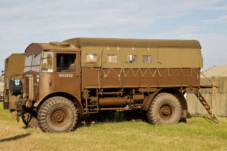 matador: WESTERNHANGER, UK - JULY 21: An ex British army WW2 vintage Matador gun truck stands on public display at the War & Peace Revival show on July 21, 2016 in Westernhanger