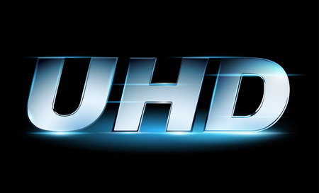 high definition: Silver UHD icon, ultra high definition