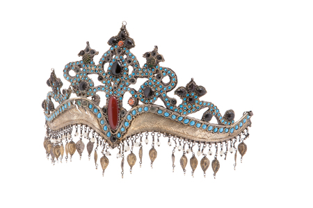 Collection of Vintage National and Silver Jewelry, Kazakh National Jewelry