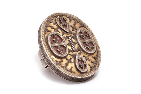 Collection of Vintage National and Silver Jewelry Ring, Kazakh National Jewelry