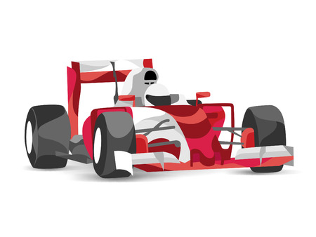 Trendy stylized illustration race car