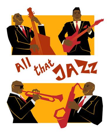 レトロなジャズ音楽のコンセプト、ジャズバンド、広告、ポスター、カバー ・ ジャズ ・ フェスティバルのための古い学校図