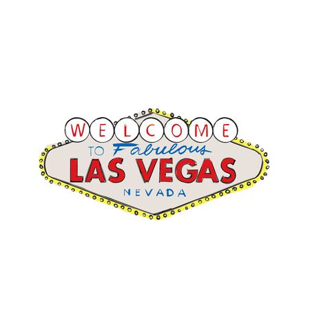 Las Vegas City logo Welcome greeting sign