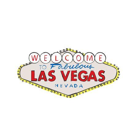 Signe de salutation bienvenue de logo de ville de Las Vegas