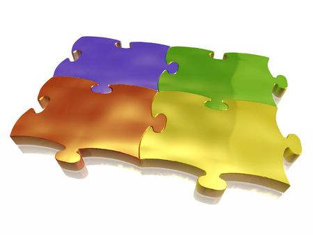 unification: Colored metal puzzle