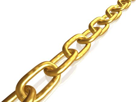 hotlink: Gold chain Stock Photo