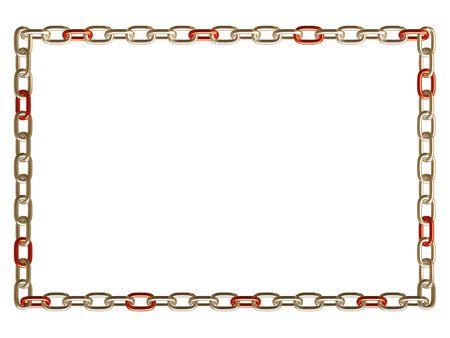 Metal chain frame Stock Photo - 3680252