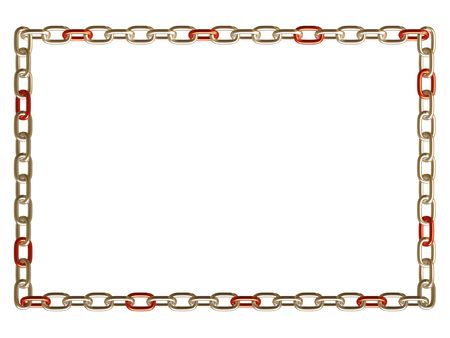 Metal chain frame