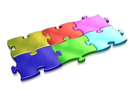 copulate: Colored puzzle Stock Photo