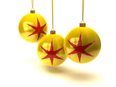 teknik: Christmas ball with stars