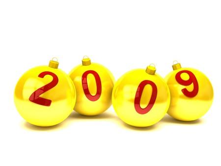 teknik: 2009 on christmas balls