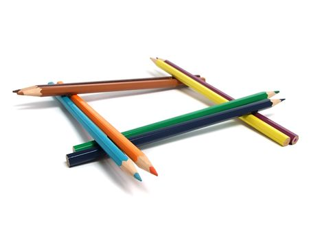 Assortment of colored pencils Stock Photo - 5757973