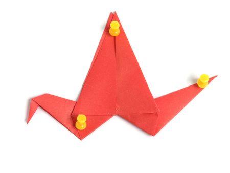 Red origami crane Stock Photo - 5938780