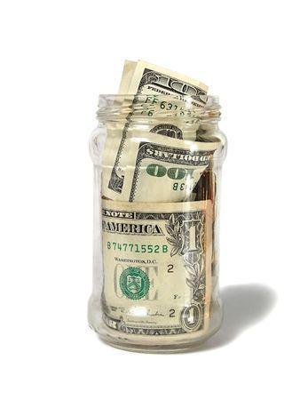 salarios: Dinero en el Banco  Foto de archivo