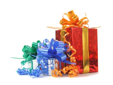 Gifts over white Stock Photo - 7549445