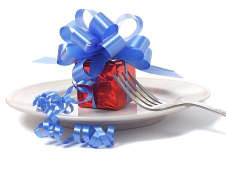 Present on plate photo