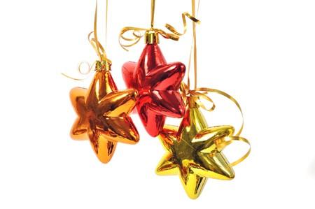 Christmas balls over white Stock Photo - 8026653