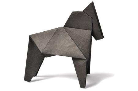 Origami horse over white