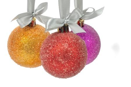 Christmas ball over white photo