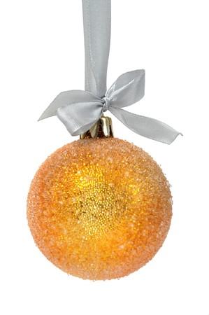 Christmas ball over white