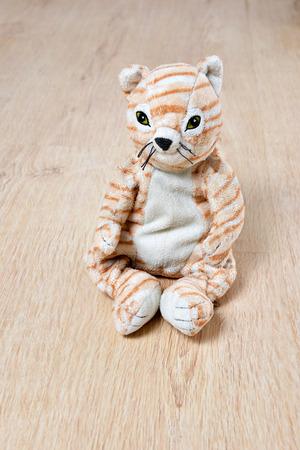 catling: Kitty cat - kids toy on wooden floor