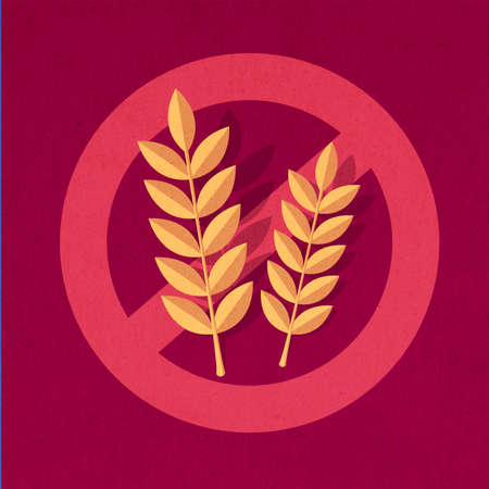 coeliac: Wheat Free Sign Stock Photo