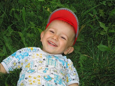 Little child smiling Stock Photo - 4569123