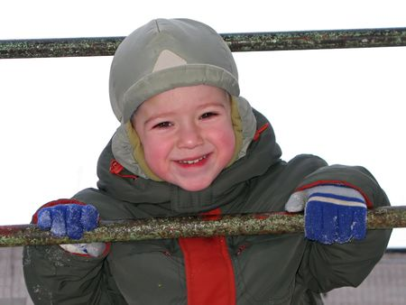 Little child smiling Stock Photo - 4569122