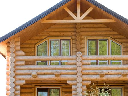 Log house structure wood building home exterior photo