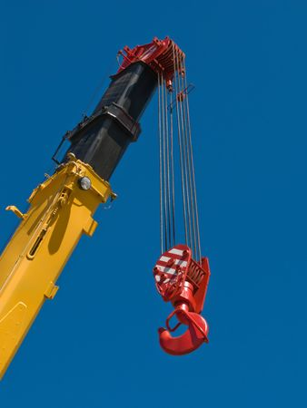 construction crane: Tower crane with steel hook building metal construction