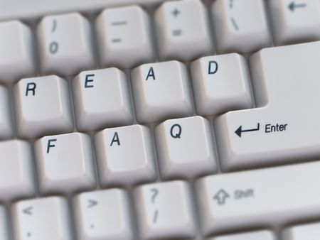 Computer keyboard key text closeup Stock Photo - 5025775