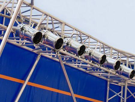 Spotlight equipment for lighting performance stage photo