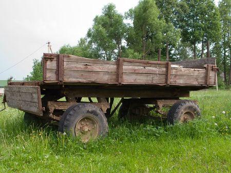 land transportation: Farm land transportation old wheel cart vehicle