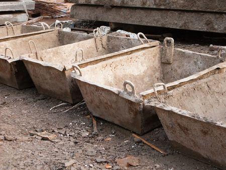launder: Launder cemento o mezclador de hormig�n para la construcci�n Foto de archivo