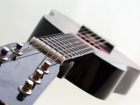 Guitar musical instrument for rock music concert photo