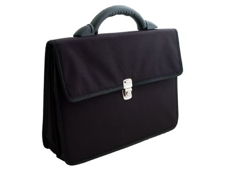 Business luggage briefcase or suitcase isolated photo