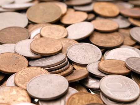 gold and silver coins: Currency coin backgrounds - finance wealth savings