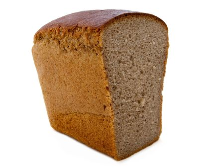 Baked bread loaf food for healthy eating isolated photo