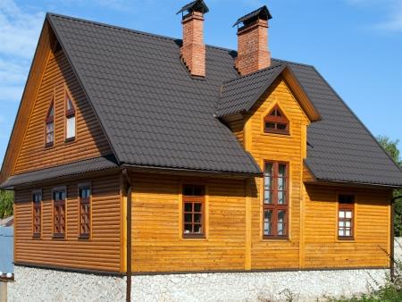 Blockhaus Holzstruktur Gebäude home Strasse
