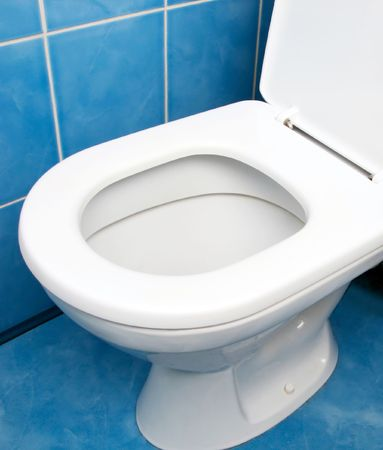Home inter clean toilet sink bowl on tile floor Stock Photo - 5597139