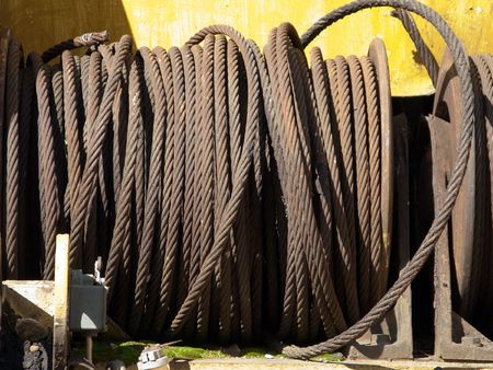 Steel rope or metal wire for construction industry photo