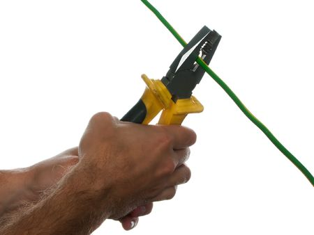 wire cutters: Hand work equipment tool - wire cutters or pliers
