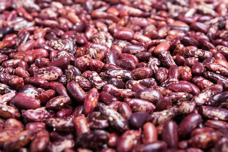 Healthy eating red raw legume bean food background photo