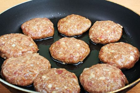 Meat food - fried pork chop cutlet for dinner meal photo
