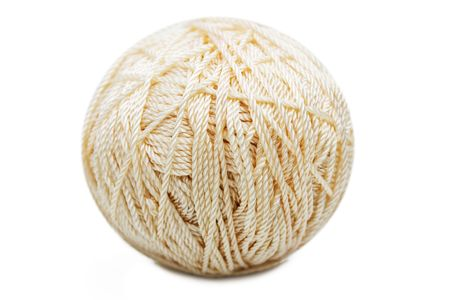 Knitting craft wool material sewing thread clew photo