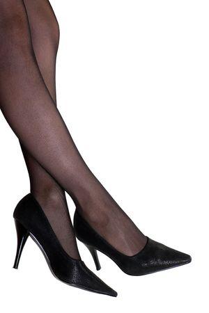 Young women beauty leg pantyhose and shoe photo