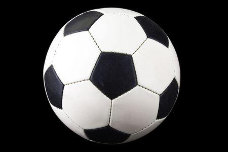 Black white football or soccer sport ball isolated