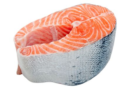 Healthy eating seafood - red raw salmon fish food photo