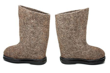 valenki: Russian traditional winter felt boot valenki shoes