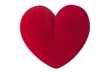 box big: Valentines day red love heart shape isolated